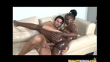 Black teen gets her pussy pounded