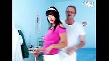 Hottest Asian babe Lady Dee cervix gyno exam by old doctor