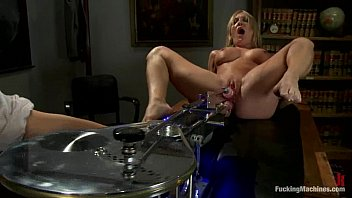 hd school friend in a short skirt is thoroughly fucked with a fuckmachine in a cream pie!